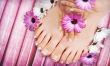 One or Two Mani-Pedis at Aura Salon (Up to 67% Off)