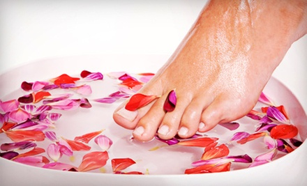 Classic Mani-Pedi for One or Two with Optional Paraffin at Glow Salon Spa (Up to 58% Off)