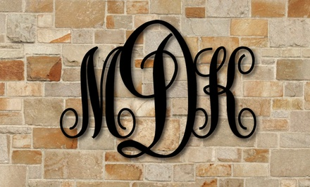 One or Two Vine Monogram Signs from Metal Unlimited (Up to 51% Off)