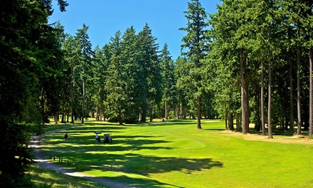 18-Hole Round of Golf for One, Two, or Four at Lake Spanaway Golf Course (57% Off)
