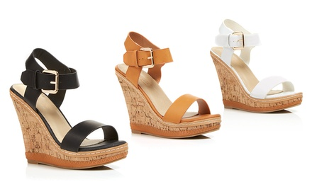 Elegant Footwear Sofiana-3 Women's Wedge Sandals | Brought to You by ideel