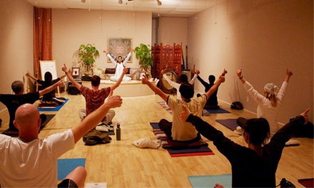 10 or 20 Yoga Classes or One Month of Yoga Classes at Seventh Chakra Yoga (Up to 83% Off)