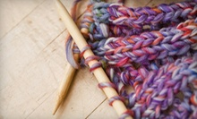 Learn to Knit or Crochet 101 Class, or Six-Week Quilting Course at Birds of a Feather (Up to 52% Off)