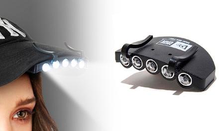 Lanterna com luzes LED para chapéu por 12,90€