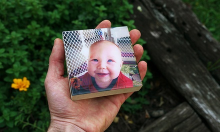 groupon daily deal - Custom Photos Mounted on Wood Blocks from Shiner Photo. Multiple Options Available.