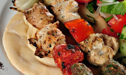 Middle Eastern Dinner for Two or Four at Shish Kabob (Up to 45% Off)
