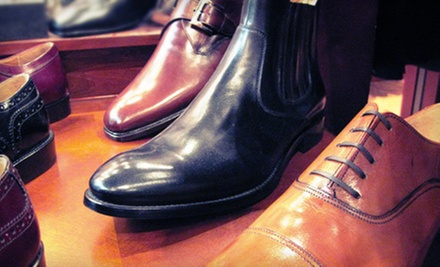 $249 for One Pair of Men&#x27;s Italian Dress Shoes and a Silk Tie at Rulls Clothing From Italy ($500 Value)