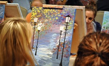 Private Art Event for Up to 10, or a Three-Hour Adult Painting Session for 1 or 2 at Art by the Glazz (Up to 53% Off)