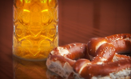 Craft Beer and Gourmet Pretzels for Two or Four at Johnnys Saloon (Up to 65% Off)
