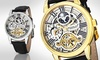 Deals on Stuhrling Original Stainless Steel Automatic Skeleton Men's Watch