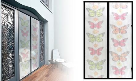 Conjunto de 2 cortinas antimosquitos Magic Mesh com desenho de borboletas por 19,95€