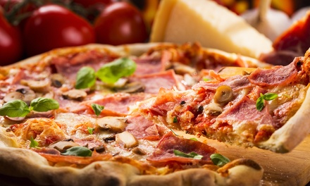 New York– and Chicago-Style Pizza at That's Amoré Pizzeria (45% Off). Two Options Available.