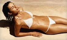 One or Three Infrared-Massage Treatments or Organic Airbrush Tans with Pretan Prep Spray at Solar Planet (Up to 62% Off)