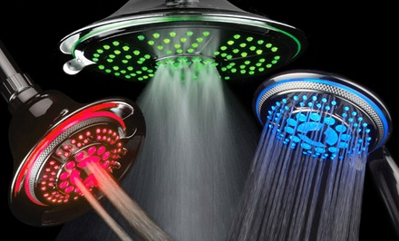 DreamSpa Color-Changing LED Multi-Functional Luxury Showerheads. Multiple Options Available from $22.99—$35.99