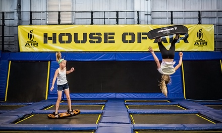 Trampoline Park Visit for Up to 2, 4, or 10 at House of Air (Up to 36% Off)