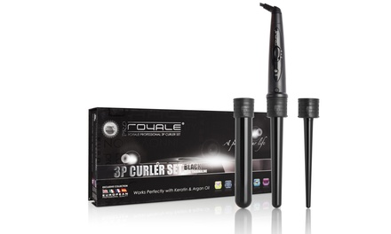 Royale Grande Ceramic Curler with Interchangeable Barrels