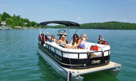 7-Hour Pontoon and Tube Rental from Island Horses Pontoon Rental (Up to 39% Off)