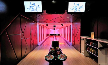 Bowling for 4, 7, or 14 with Shoe Rental at Frames Bowling Lounge (Up to 65% Off)