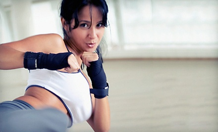 10 or 20 Fit Classes or Women's Kickboxing Classes at Grudge Training Center (Up to 88% Off)