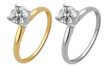 3/4 CTW Certified Diamond Solitaire Ring