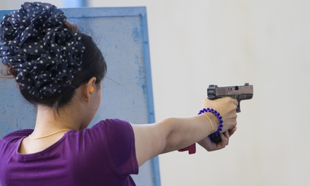 Three or Six Shooting-Range Visits or an Ultrasonic Pistol Cleaning at Panhandle Gunslingers (Up to50% Off)