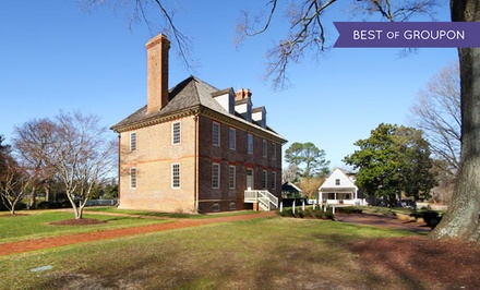groupon daily deal - Stay at The Historic Powhatan Resort in Williamsburg, VA. Dates into June.