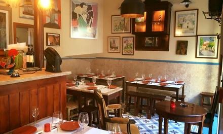 Taberna Saudade — Lapa: jantar para 2 pessoas com couvert, petiscos e bebidas desde 14,90€