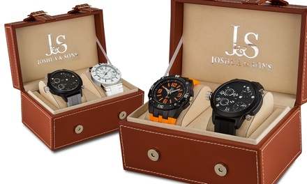 Joshua & Sons Men's Two-Watch Gift Set