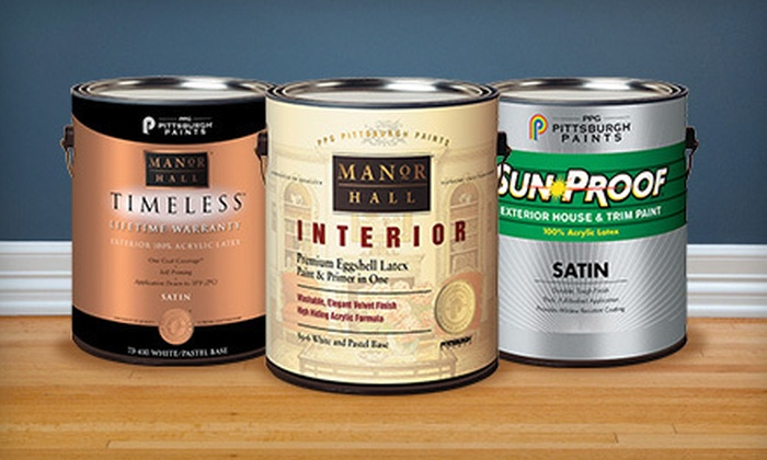 Ppg Pittsburgh Paints Maryland Paint Decorating Groupon