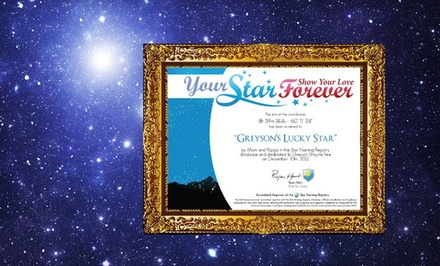 One or Two Dedicated Stars with a Video, Message, Photo, and Certificate from YourStarForever.com (Up to 74% Off)