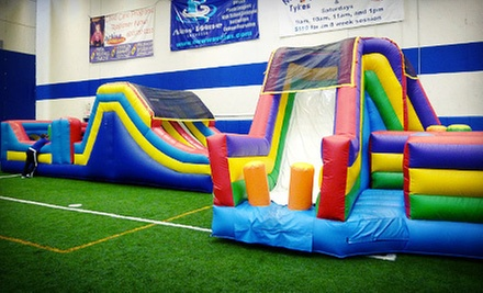 $12 for a Kid&#x27;s Outing with One Playroom Visit, One Mighty Tykes Class, and One Kid&#x27;s Meal at Westmont Yard ($25 Value)