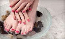 Express Mani-Pedi with Gel Polish or a Full Set of Acrylic Nails for the Hands at A Touch of Class (Up to 55% Off)