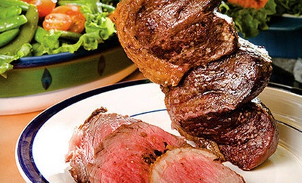 Brazilian-Steak Dinner Feast for Two or Four at Gaucho's Brazilian Steakhouse (Up to 53% Off)