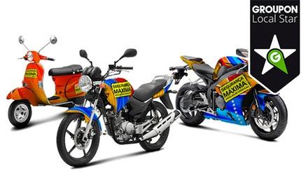 Segurança Máxima Escolas de Condução — 22 localizações: aula de aperfeiçoamento de condução de motociclos por 8,95€