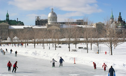 groupon daily deal - Gift a 1- or 2-Night Stay for Two with Wine, Strawberries and Chocolate, and Ice Skating at Marriott SpringHill Suites Old Montreal