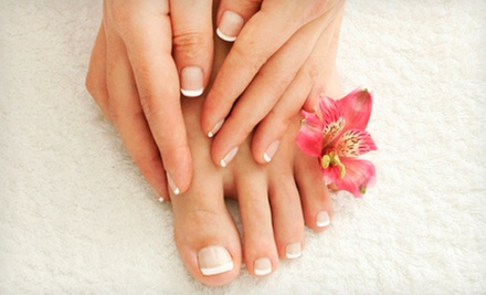 One or Two Spa Mani-Pedis at RelaXercise Fitness Spa (Up to 58% Off)