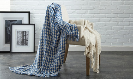 Set of 2 Comfort Collection 100% Cotton Throw Blankets