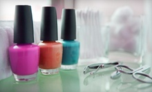 Three Basic or Shellac Manicures at New Beginnings Nail Salon (51% Off)