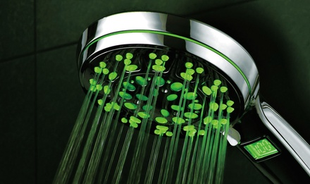 HotelSpa Ultra-Luxury LED/LCD 5-setting Hand Shower with Lighted Temperature Display