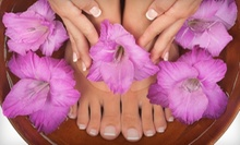 Classic Mani-Pedi, Brazilian Wax, or Both at Spa On The Square (Up to 59% Off)
