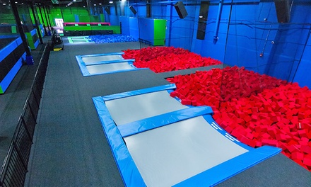 Two Hours of Trampoline Play for Two or Four at Bounce! Trampoline Sports (Up to 52% Off)