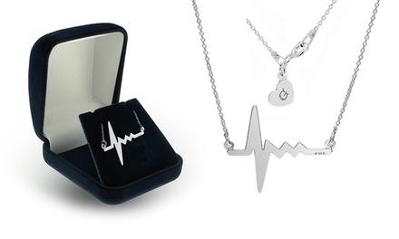Colar e pendentes Heartbeat com gravação por 14,99€ ou dois por 22,99€