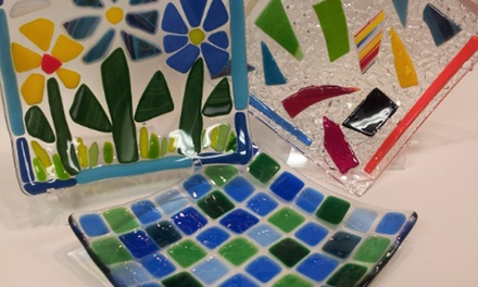 Glass-Fusing Session with a 6-Inch Trinket Dish for One or Two at Busy Beaver Arts & Crafts (Up to 53% Off)