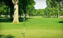 9- or 18-Hole Round of Golf with Cart Rental and Hot-Dog Lunch for Two or Four at Thatcher Golf Course (Up to 62% Off)