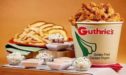 Two $10 Groupons, or One 25-Piece Bucket at Guthrie's Chicken Fingers (Up to 40% Off)