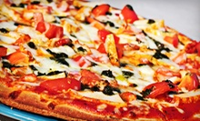 Pizza, Sides, and Drinks at Custom Pizza (Half Off). Two Options Available.