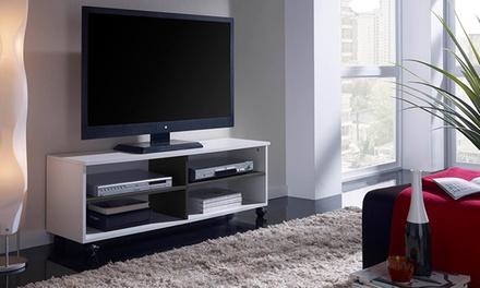 Móvel de televisão em melamina disponível em três cores por 49,90€