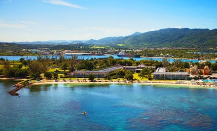 groupon daily deal - 3-, 4-, 5-, or 6-Night All-Inclusive Stay for Two with Airport Transfers at The Oasis at Sunset in Montego Bay, Jamaica