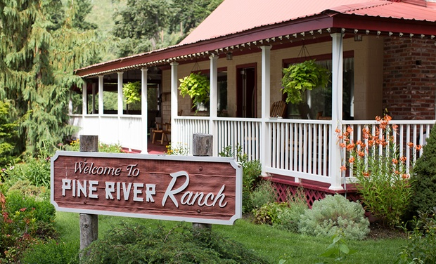 TripAlertz wants you to check out 1- or 2-Night Stay for Two with a Bottle of Wine at Pine River Ranch in Leavenworth, WA. Combine Up to 4 Nights. Stay at 22-Acre Ranch with Bottle of Wine - 22-Acre Ranch