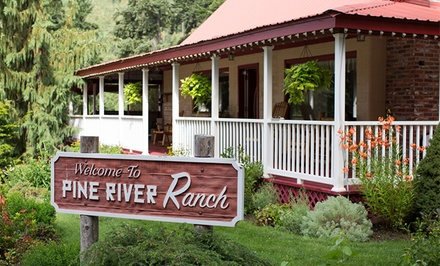 Groupon Deal: 1- or 2-Night Stay for Two with a Bottle of Wine at Pine River Ranch in Leavenworth, WA. Combine Up to 4 Nights.